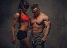 Couples sportifs de forme physique Photos stock
