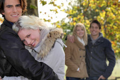Free Couples Strolling In The Park Stock Image - 34467241