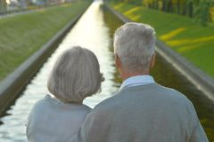 Couples supérieurs Photos libres de droits
