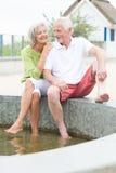 Couples supérieurs actifs Image libre de droits