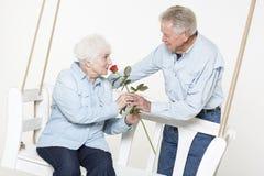 Couples supérieurs affectueux Photos stock