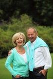 Couples supérieurs affectueux heureux Photo libre de droits