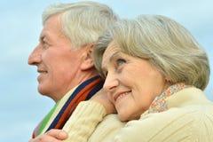 Couples supérieurs au ciel Images libres de droits