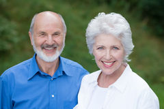 Couples supérieurs caucasiens heureux ensemble Photos libres de droits