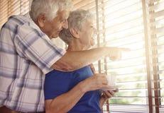 Couples supérieurs dans l'amour Image libre de droits