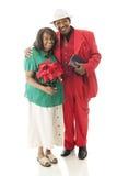 Couples supérieurs de Noël Photos stock