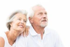 Couples supérieurs heureux Photographie stock libre de droits