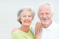 Couples supérieurs heureux Photographie stock