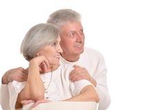Couples supérieurs heureux Photo libre de droits