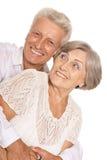 Couples supérieurs heureux Images libres de droits