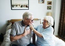 Couples supérieurs prenant soin de l'un l'autre Images libres de droits
