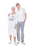 Couples supérieurs sains heureux Photo libre de droits
