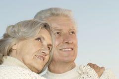Couples supérieurs sur le fond de ciel Images libres de droits