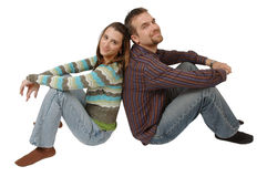 Couples supportants Photo stock
