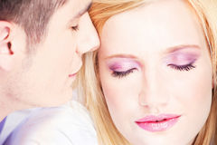 Couples sur l'oreiller Images stock