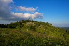 Couples sur la montagne Photo stock