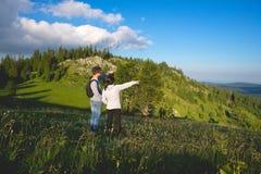 Couples sur la montagne Image stock