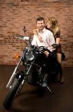 Couples sur la motocyclette Photo libre de droits