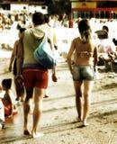 Couples sur la plage photo libre de droits