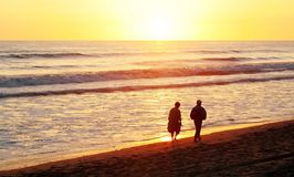 Couples sur la plage Photos stock