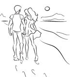 Couples sur la plage Images stock