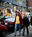 Couples sur la rue images libres de droits