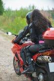 Couples sur le vélo Photo libre de droits