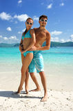 Couples sur une plage Image stock