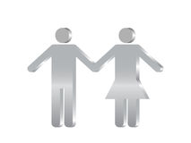 Couples symbol 3d Royalty Free Stock Photos