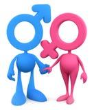 Couples symboliques Photos libres de droits