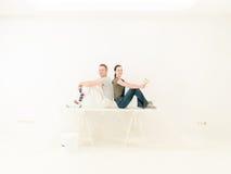 Couples team DIY Stock Photo