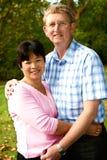 Couples thaïs et anglais Image stock