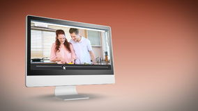 Couples in their kitchen stock footage