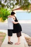 Couples travaillant dehors Images libres de droits
