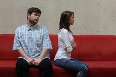Couples tristes image stock
