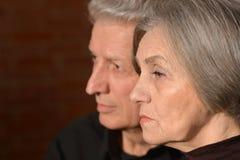 Couples tristes d'aîné Image stock