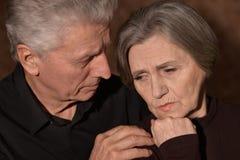 Couples tristes d'aîné Photo libre de droits
