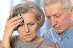 Couples tristes d'aîné Images libres de droits