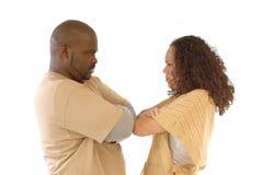 Couples têtus Images libres de droits