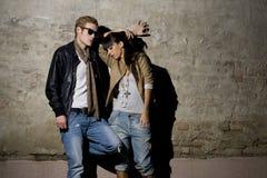 Couples urbains photo stock
