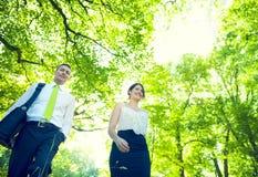 Couples verts d'affaires images libres de droits