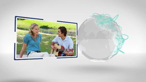 Couples videos with an Earth image courtesy of Nasa.org Stock Photography
