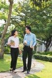 Couples vietnamiens d'affaires Images libres de droits
