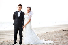 Couples Wedding At Beach Royalty Free Stock Photography