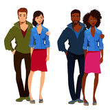 Couples of young people. Stock Image