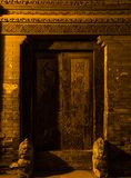 Couplet Gatepost στο Πεκίνο Στοκ Εικόνα