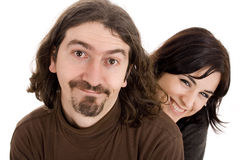 Couplewoman isoleert Stock Foto