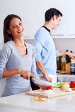 Cuisinier en bonne santé de nourriture Photo stock