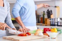 Cuisinier en bonne santé de nourriture Image libre de droits