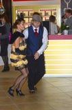 Couplez la danse dans la danse JUNWEX Moscou 2014 Images libres de droits